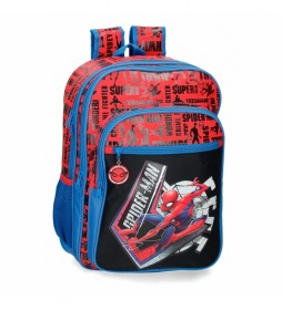 Mochila Escolar Spiderman Great Power rojo, azul -31x42x13cm -