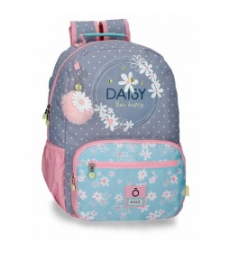 Mochila Portaordenador Enso Daisy lila, multicolor -32x42x15cm-