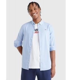 Camisa TJM Slim Stretch Oxford Shirt azul cielo