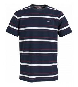 Camiseta TJM Slub Stripe marino, blanco