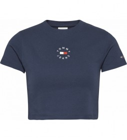 Camiseta TJW Baby Crop Tinny Tommy marino