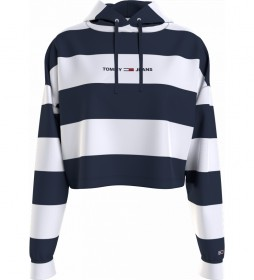 Sudadera TJW Linear Stripe blanco, marino