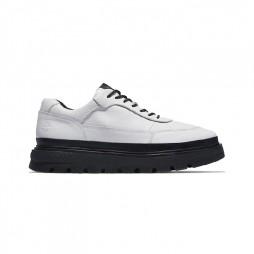 Zapato de piel Oxford City blanco, negro