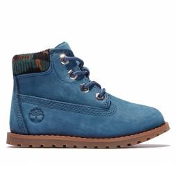 Botas de piel 6 Inch Pine azul