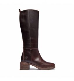 Botas de piel Dalston Vibe marrón -Altura del tacón 6 cm-