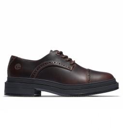 Zapato de piel Brogue Lisbon marrón oscuro