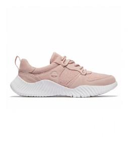 Zapatillas  de piel TrueCloud rosa