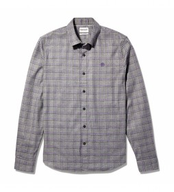 Camisa Solucell Check gris, lila
