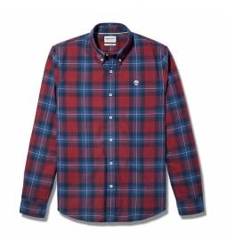 Camisa Back River roja, azul
