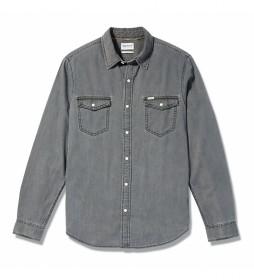 Camisa vaquera Mumford gris denim
