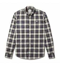 Camisa Str Poplin slim gris claro