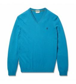 Jersey Merino V Neck azul