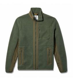 Chaqueta Sherpa verde oscuro