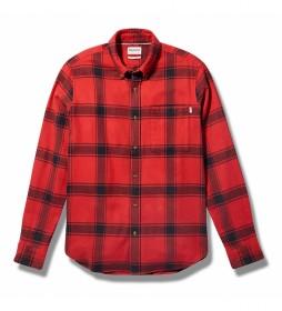 Camisa Heavy Flannel rojo, negro
