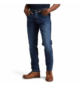Pantalón Vaquero Washed Tapered azul oscuro denim