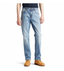 Pantalón vaquero Tapered azul claro denim