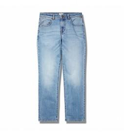 Pantalón vaquero Washed Tapered azul claro denim