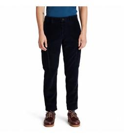 Pantalón Cargo de Pana azul marino
