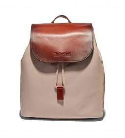 Mochila Backpack beige -30 x 25 x 12 cm-