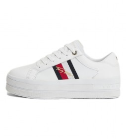 Zapatillas de piel Th Signature Flatform Cupsole blanco