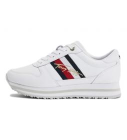 Zapatillas de piel Th Signature Runner blanco