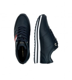 Zapatillas de piel Th Signature Runner marino