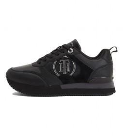 Zapatillas de piel Feminine Active City negro