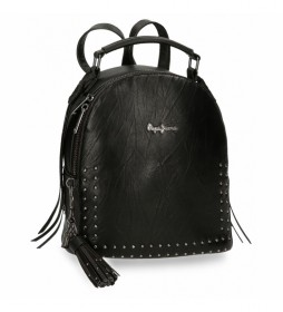 Bolso Mochila  Chic negro -21x25x11cm-