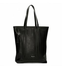 Bolso Shopper Chic negro -35x40x11cm-