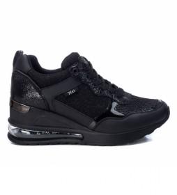 Zapatillas 042946 negro -Altura cuña: 7cm-