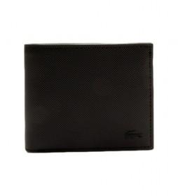 Cartera Billfold negro -11.5x9.5x2.5cm-