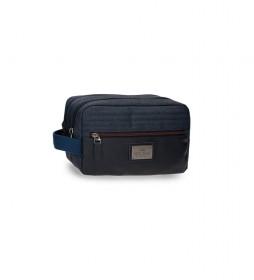 Neceser Britway Dos Compartimentos Adaptable negro -26x16x12cm-