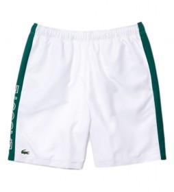 Short blanco, verde