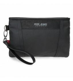 Bolsa de mano Paxton negro -25x16x1cm-