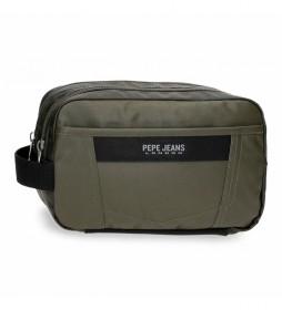 Neceser Paxton Dos Compartimentos Adaptable verde -26x16x12cm-
