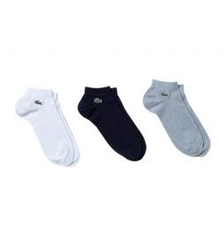 Pack de 3 calcetines RA2105_5KC  blanco, negro, gris
