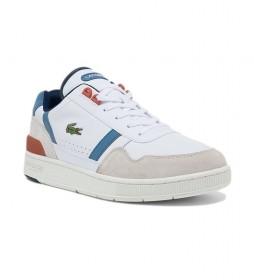 Zapatillas de piel T-Clip blanco