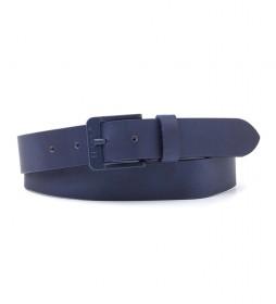 Cinturón de piel Free Metal azul
