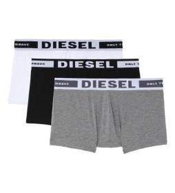 Pack de 3 Boxers Umbx-Kory gris, blanco, negro