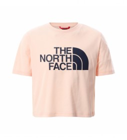 Camiseta Girl Easy Cropped rosa palo