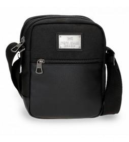 Bandolera Scratch negro -17x22x7cm-