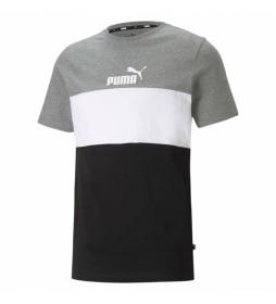 Camiseta ESS+ Colorblock gris, blanco, negro