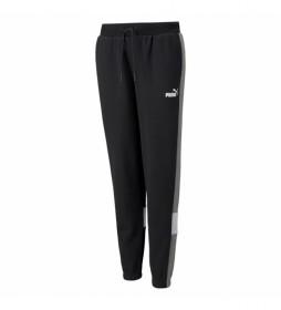 Pantalones Ess+ Colorblock FL cl B negro