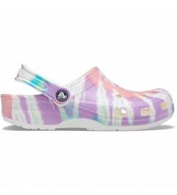 Zuecos Classic Tie Dye Graphic Clog U lila