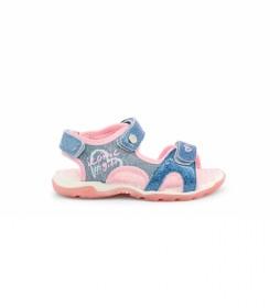 Sandalias 6015-031 azul, rosa