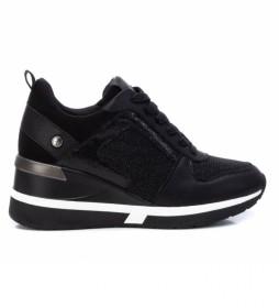 Zapatillas 043242 negro -Altura cuña: 7cm-