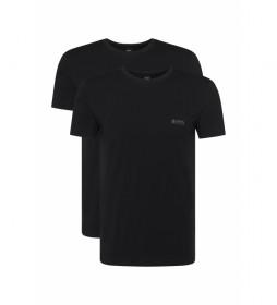 Pack de 2 Camisetas Interiores con Logo en el Pecho negro