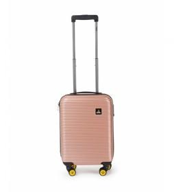 Maleta cabina Abroad rosa -35x20x54cm-