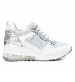 Zapatillas 042946 blanco -Altura cuña: 7cm-