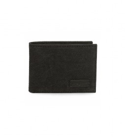 Cartera horizontal Oliver negro -11x 8x1cm-